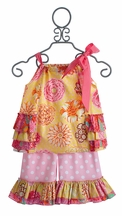 Haute Baby Honey Child Little Girls Swing Capri Outfit (Size 12 Mos)