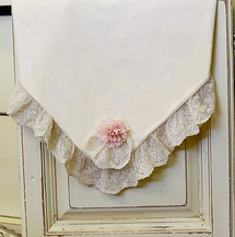 Haute Baby Ivory Baby Blanket with Lace