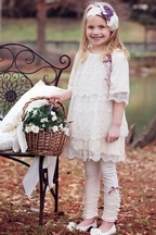 Haute Baby Ivory Lace Dress with Legging Tessa Renee