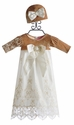 Haute Baby Juliette Velvet Baby Gown with Hat