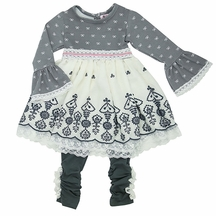 Haute Baby Lace and Bows Tunic Set for Girls