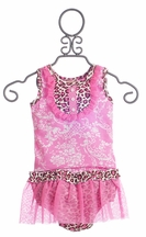 Haute Baby Leopard Girls Skirt Set