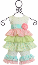 Haute Baby Lime Blossom Tunic Set