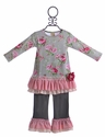 Haute Baby Little Girls Floral Tunic Set