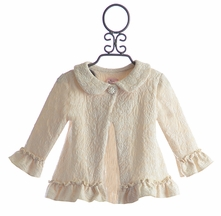 Haute Baby Little Girls Jacket in Ivory (6 & 7)