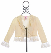 Haute Baby Little Girls Shrug in Ivory