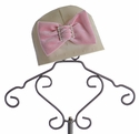 Haute Baby Matching Baby Girls Hat Ivory Dots