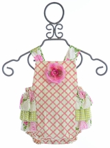 Haute Baby May Flowers Sunsuit (0/3Mos,3/6Mos,6/9Mos,12Mos)
