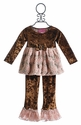 Haute Baby Mocha Swing Set for Little Girls in Velvet