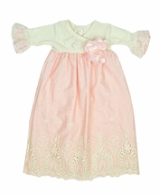 Haute Baby Peach Blossom Baby Gown
