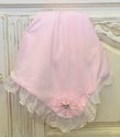 Haute Baby Pink Baby Blanket Lacy Rose
