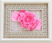 Haute Baby Pink Clippie Headband with Lace Band