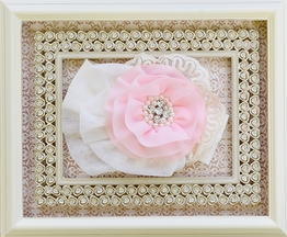 Haute Baby Pink Rose Lace Headband
