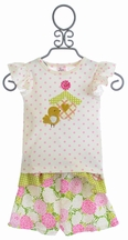Haute Baby Short Set for Little Girls May Flowers (3T,5,6)