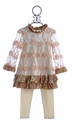 Haute Baby Special Occasion Infant Outfit with Pink Rosettes