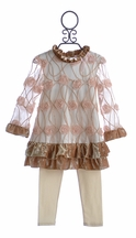 Haute Baby Special Occasion Outfit with Pink Rosettes (12 Mos, 2T, & 6)