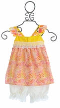Haute Baby Spring Flowers Bloomer Set for Little Girls (18Mos,2T,3T,4T)