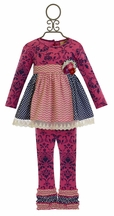 Haute Baby Sugar Plum Tunic Set for Girls (12Mos,18Mos,24Mos,3T)