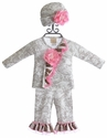 Haute Baby Toile Wrap Set for Baby Girls