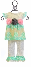Haute Baby Top and Pants Set Vintage Dots (3-6Mos,12Mos,18Mos)