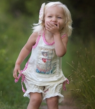 Haute Baby Tunic Set for Girls Vintage Charm