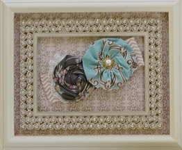 Haute Baby Turquoise and Gray Headband