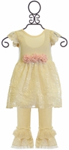 Haute Baby Vanilla Spring Tunic Set for Girls