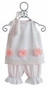 Haute Baby White Eyelet Girls Bloomer Set