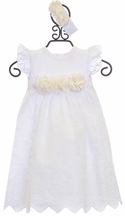 Haute Baby White Infant Gown