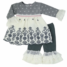 Haute Baby Winter Pearl Top and Leggings for Girls