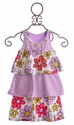 Haven Girl Summer Dress for Girls Tiered Purple