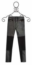 Hudson Jeans Grey Skinny Jean with Black Contrast (Size 16)