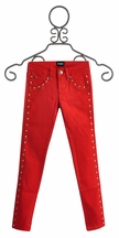 Hudson Jeans Studded Red Skinny Jeans for Girls (Size 14)