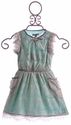I Love Gorgeous Eliza Girls Dress in Grey and Turquoise