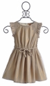 I Love Gorgeous Glacier Gold Flutter Sleeve Girls Dress