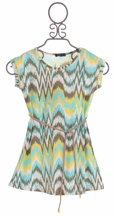 Imoga Girls Dress with Wave Print (2,8,10,12)