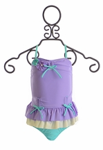 Isobella and Chloe Arielle Swim Suit Tank for Girls (6Mos & 9Mos)