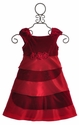 Isobella and Chloe Bejeweled Little Girls Holiday Dress Velvet Red
