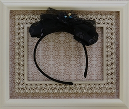 Isobella and Chloe Black Bow Headband