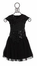 Isobella and Chloe Black Holiday Dress for Girls