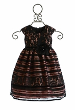 Isobella and Chloe Black Lace Holiday Dress for Girls