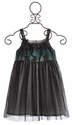 Isobella and Chloe Black Sleeveless Neverland Dress for Girls