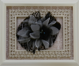 Isobella and Chloe Black Tulle Stretch Headband