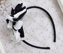 Isobella and Chloe Black & White Girls Star Flower Headband