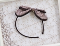 Isobella and Chloe Brown Bow Headband in Karen