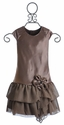 Isobella and Chloe Brown Mocha Special Occasion Dress for Girls
