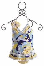 Isobella and Chloe Caribbean Current One Piece Swimsuit (Size 4)