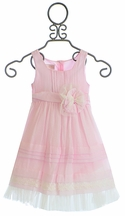Isobella and Chloe Chamomile Kisses Girls Dress in Pink (Size 9Mos)