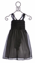 Isobella and Chloe Chiffon Dress for Girls in Black Stella (8 & 10)
