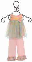 Isobella and Chloe Confetti Tulle Tunic and Pants (6Mos,12Mos,18Mos,24Mos)